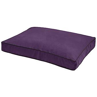 Dog Gone Smart Suede Rectangle Bed Plum 66x86x10cm