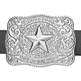 Iced out bling WESTERN STAR belt