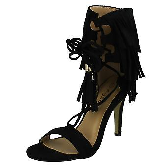 Ladies Anne Michelle Tassle Open Toe Heels