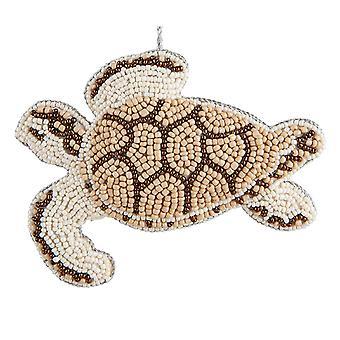 Багамские острова бисером морских черепах 5,5 дюйма ткань рождественские праздники орнамент