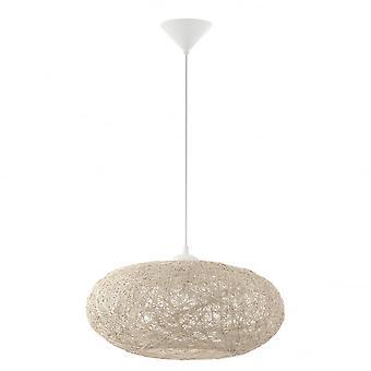 Eglo Campilo 1 Light Ceiling Pendant Beige
