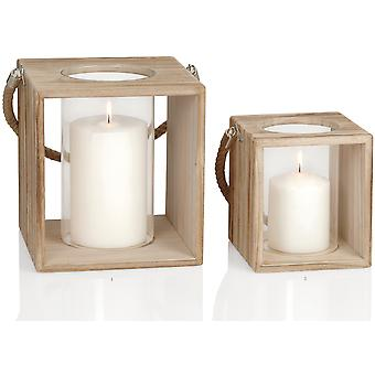 Andrea House Wood Candle Holder 21,5X21X23 (Home , Decoration , Candles)