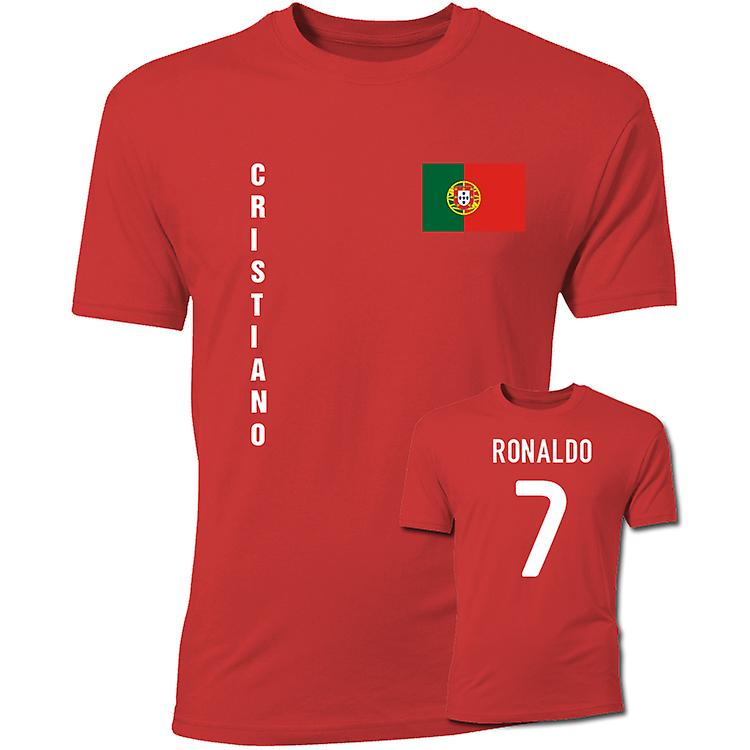 Cristiano Ronaldo Portugal Flag T-Shirt (Red)