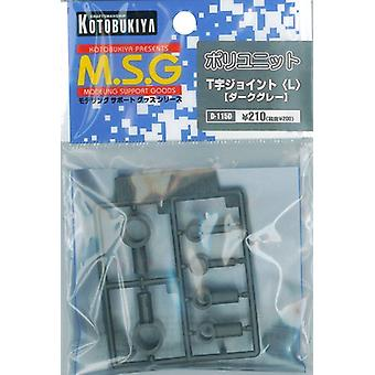 MSG Modeling Support Goods Series Poly Unit (Dark Gray) T-shaped Joint (L) D115d (Plastic Parts)