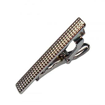 Bassin and Brown Textured Tie Bar - Silver