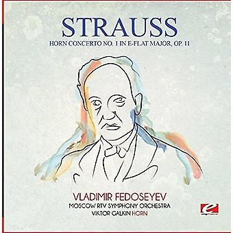 Strauss - Horn Concerto No. 1 in E-Flat Major Op. 11 [CD] USA import