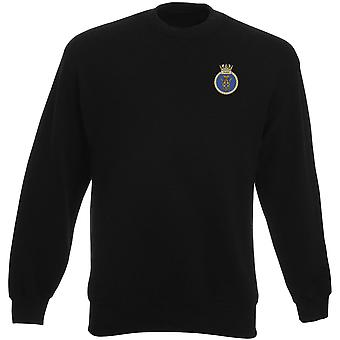HMS Pickle Embroidered Logo - Official Royal Navy Heavyweight Sweatshirt