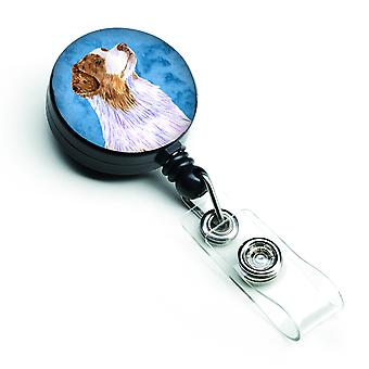 Carolines Treasures  LH9363BUBR Blue Australian Shepherd Retractable Badge Reel