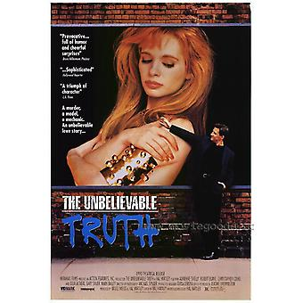 The Unbelievable Truth Movie Poster (11 x 17)