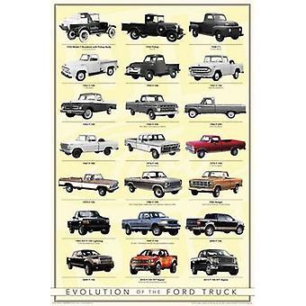 Ford - Truck Evolution Poster Poster afdrukken