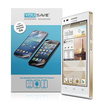 Yousave Huawei Ascend G6 Защитные пленки - 3 пакет