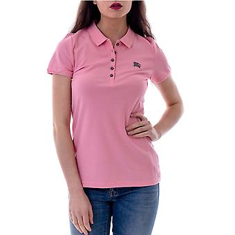 Burberry ladies 3955958 pink cotton polo shirt