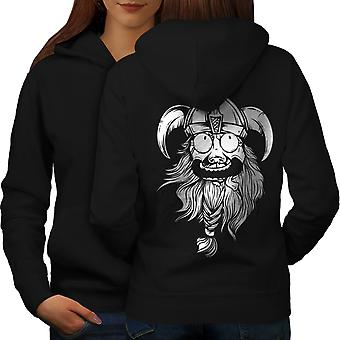 Crazy North Joke Women BlackHoodie Back | Wellcoda