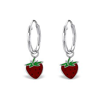 Strawberry - 925 Sterling Silver Hoops