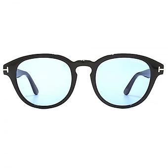 Tom Ford Von Bulow Sunglasses In Shiny Black Blue