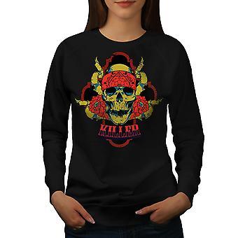 Killer Rose Death Women BlackSweatshirt | Wellcoda