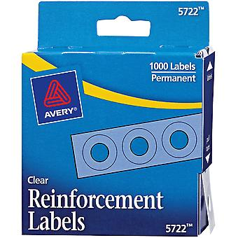 Avery Clear Self-Adhesive Reinforcement Labels 1000/Pkg-.25