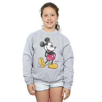Disney Girls Mickey Mouse Classic Kick Sweatshirt