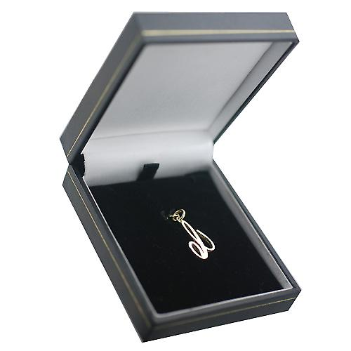 9ct Gold 22x14mm plain Initial C Pendant