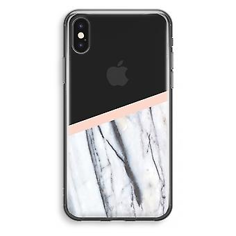 iPhone X Transparant Case - A touch of peach