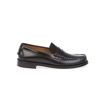Sebago men's B76671BLACK black leather moccasins