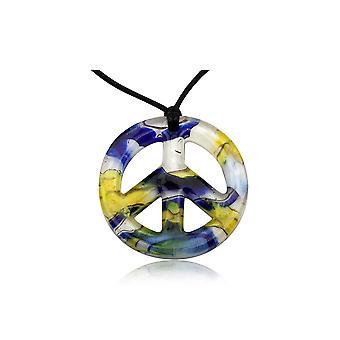 平和黄色ムラーノ ガラス ペンダント