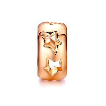 Charms Beads star stainless steel Rose Gold