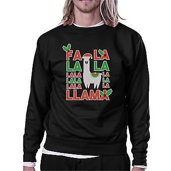 Falala Llama Mens/Unisex Fleece Sweatshirt Pullover For Christmas Gift