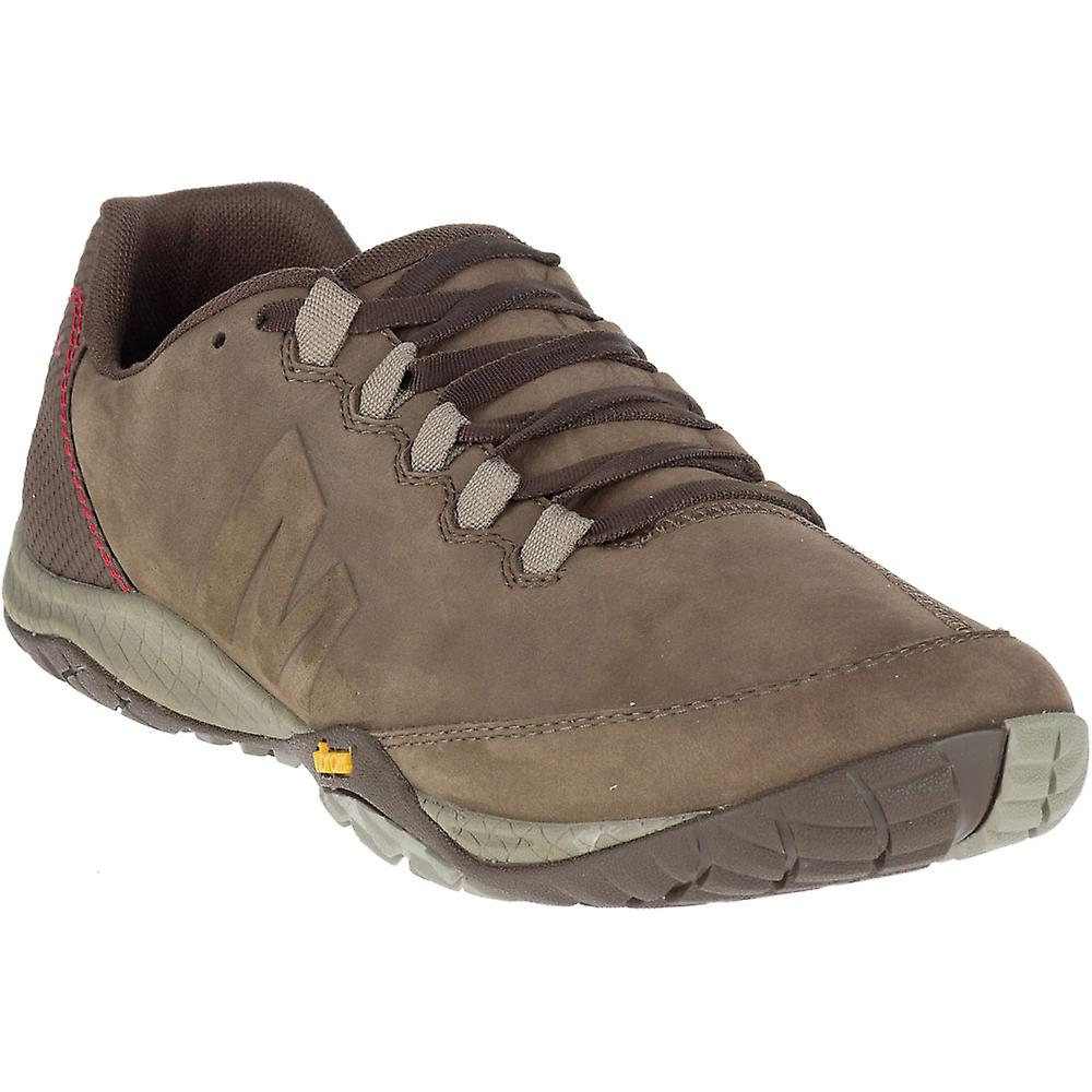 d86c32c851 Merrell Mens Parkway Emboss Lace Full Grain Leather Running Shoes