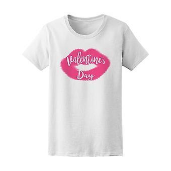 Happy Valentine's Day Lips Tee Women's -Image by Shutterstock