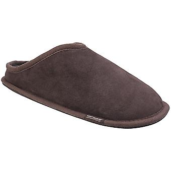 Cotswold Mens Hidcote Sheepskin Warm Open Back Premium Mule Slippers