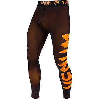 Venum Giant Dry Tech Fit Cut Compression Spats - Black/Neo Orange