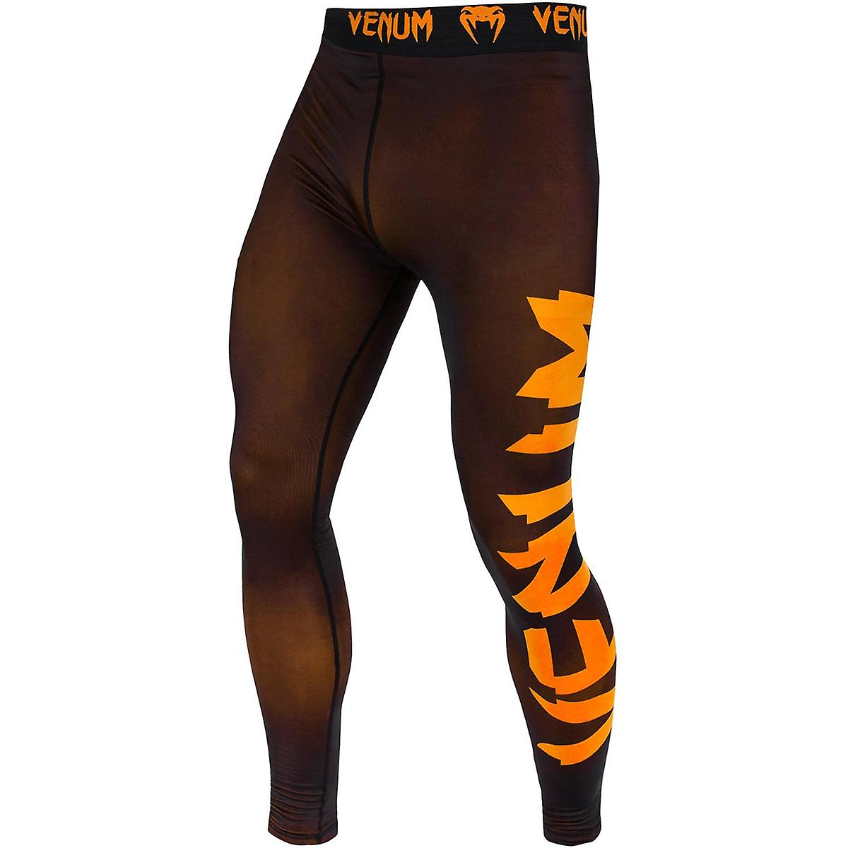 Venum Giant Tech Dry Fit coupe Compression guêtres - noir Neo Orange