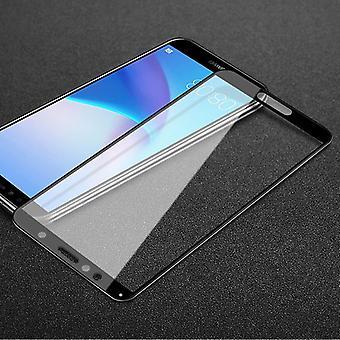 Voor Huawei Y6 2018 3D premie 0.3 mm H9 hardglazen zwarte dia bescherming betrekking hebben op nieuwe