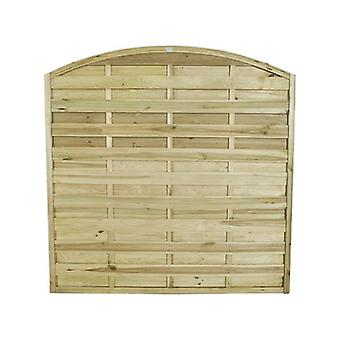 Forest Garden Europa Domed 6ft Wooden Fence Panel