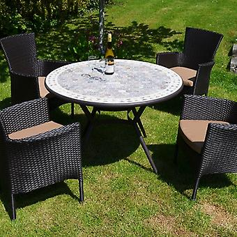 Cordoba Dining Table Set with 4 Stockholm Chairs