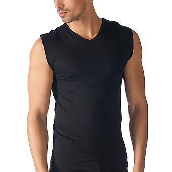Mey Men 42537-123 Men's Software Black Solid Colour Fitted Sleeveless