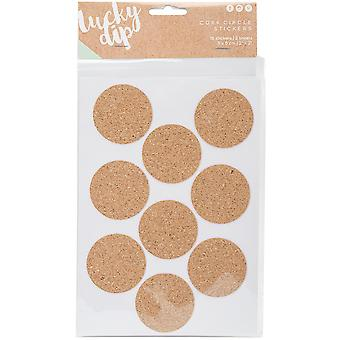 Lucky Dip Cork Stickers 2/Pkg-Circles 2