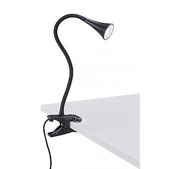 Trio belysning Viper moderne sort plast fastspænding lampe