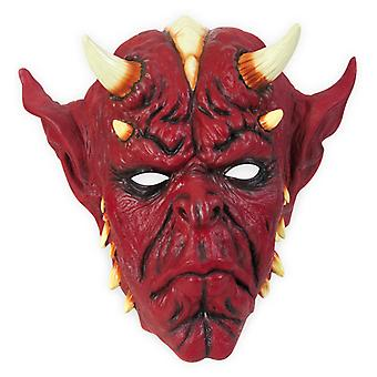 Three quarters mask Devil demon horror Halloween Deluxe mask