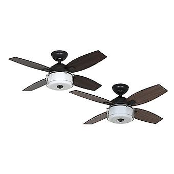 Hunter Central Park Aged Steel ceiling fan with light 107cm / 42