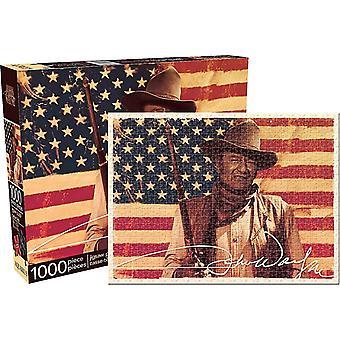 John Wayne Flag 1000 Piece Jigsaw Puzzle 690Mm X 510Mm