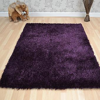 Diva Shaggy Rugs In Purple