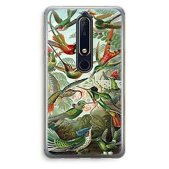 Nokia 6 (2018) Transparent Case (Soft) - Haeckel Trochilidae