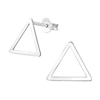 Triangle - 925 Sterling Silver Plain Ear Studs - W37328x