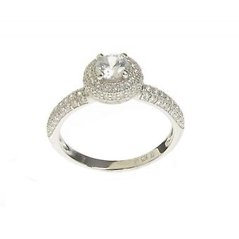 Cavendish French Silver  and CZ Pom-Pom Solitaire Ring