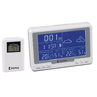 Wireless weather station for indoors and outdoors metering, White