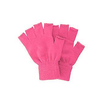 Handschoenen gebreide Vingerloze handschoenen fuchsia