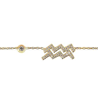 Latelita Zodiac Aquarius Sterling Silver Bracelet Star Sign Astrology Rose Gold