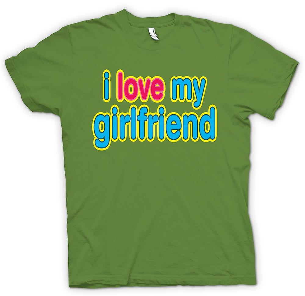 Mens T-shirt - I Love My Girlfriend - Funny
